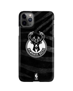 Milwaukee Bucks Animal Print Black iPhone 11 Pro Max Lite Case
