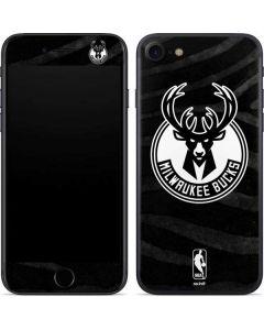 Milwaukee Bucks Animal Print Black iPhone SE Skin