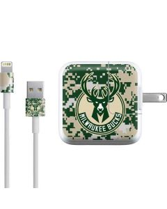 Milwaukee Bucks Camo Digi iPad Charger (10W USB) Skin