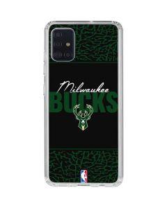 Milwaukee Bucks Elephant Print Galaxy A51 Clear Case