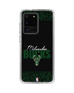Milwaukee Bucks Elephant Print Galaxy S20 Ultra 5G Clear Case