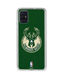 Milwaukee Bucks Green Distressed Galaxy A51 Clear Case
