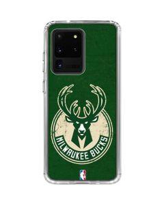 Milwaukee Bucks Green Distressed Galaxy S20 Ultra 5G Clear Case