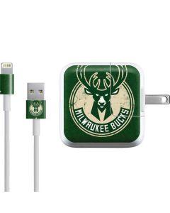 Milwaukee Bucks Green Distressed iPad Charger (10W USB) Skin