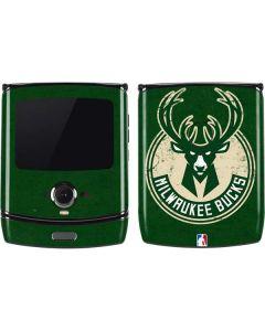 Milwaukee Bucks Green Distressed Motorola RAZR Skin