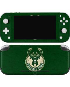 Milwaukee Bucks Green Distressed Nintendo Switch Lite Skin