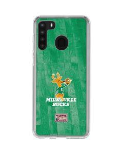 Milwaukee Bucks Hardwood Classics Galaxy A21 Clear Case