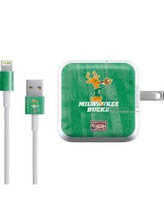 Milwaukee Bucks Hardwood Classics iPad Charger (10W USB) Skin