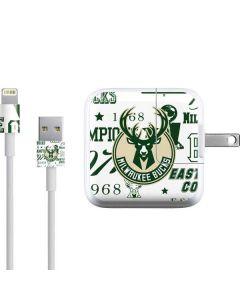 Milwaukee Bucks Historic Blast New iPad Charger (10W USB) Skin