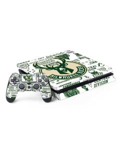 Milwaukee Bucks Historic Blast New PS4 Slim Bundle Skin