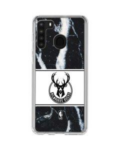 Milwaukee Bucks Marble Galaxy A21 Clear Case