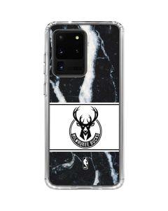Milwaukee Bucks Marble Galaxy S20 Ultra 5G Clear Case