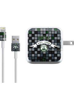 Milwaukee Bucks Pixels iPad Charger (10W USB) Skin