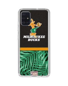 Milwaukee Bucks Retro Palms Galaxy A51 Clear Case
