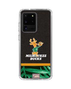Milwaukee Bucks Retro Palms Galaxy S20 Ultra 5G Clear Case