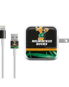 Milwaukee Bucks Retro Palms iPad Charger (10W USB) Skin