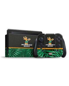 Milwaukee Bucks Retro Palms Nintendo Switch Bundle Skin