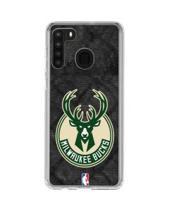 Milwaukee Bucks Rusted Dark Galaxy A21 Clear Case