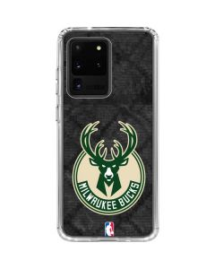 Milwaukee Bucks Rusted Dark Galaxy S20 Ultra 5G Clear Case