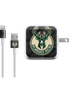 Milwaukee Bucks Rusted Dark iPad Charger (10W USB) Skin