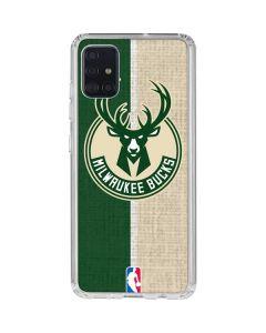 Milwaukee Bucks Split Canvas Galaxy A51 Clear Case