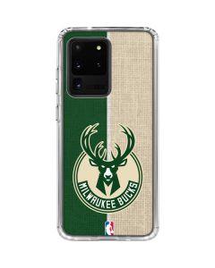 Milwaukee Bucks Split Canvas Galaxy S20 Ultra 5G Clear Case