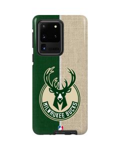 Milwaukee Bucks Split Canvas Galaxy S20 Ultra 5G Pro Case