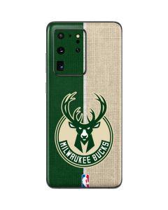 Milwaukee Bucks Split Canvas Galaxy S20 Ultra 5G Skin