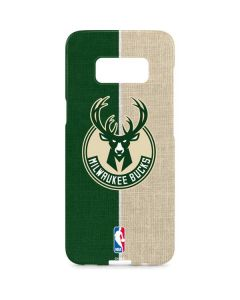 Milwaukee Bucks Split Canvas Galaxy S8 Plus Lite Case