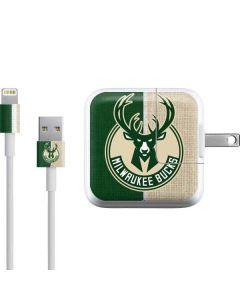 Milwaukee Bucks Split Canvas iPad Charger (10W USB) Skin