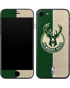 Milwaukee Bucks Split Canvas iPhone SE Skin