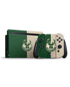 Milwaukee Bucks Split Canvas Nintendo Switch Bundle Skin