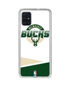 Milwaukee Bucks Split Galaxy A51 Clear Case