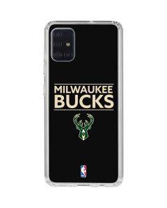 Milwaukee Bucks Standard - Black Galaxy A51 Clear Case