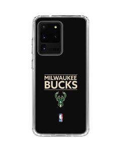 Milwaukee Bucks Standard - Black Galaxy S20 Ultra 5G Clear Case