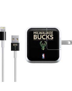 Milwaukee Bucks Standard - Black iPad Charger (10W USB) Skin
