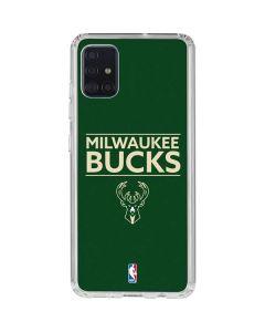 Milwaukee Bucks Standard - Green Galaxy A51 Clear Case
