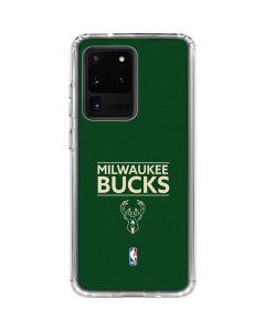 Milwaukee Bucks Standard - Green Galaxy S20 Ultra 5G Clear Case