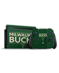 Milwaukee Bucks Standard - Green Nintendo Switch Bundle Skin