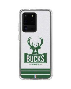 Milwaukee Bucks Static Galaxy S20 Ultra 5G Clear Case