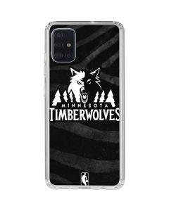Minnesota Timberwolves Black Animal Print Galaxy A51 Clear Case