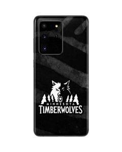 Minnesota Timberwolves Black Animal Print Galaxy S20 Ultra 5G Skin