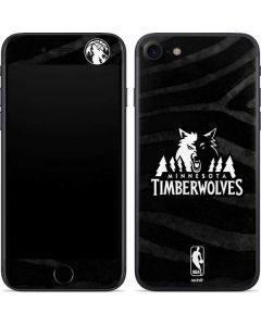 Minnesota Timberwolves Black Animal Print iPhone SE Skin