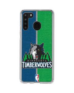 Minnesota Timberwolves Canvas Galaxy A21 Clear Case