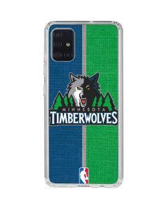 Minnesota Timberwolves Canvas Galaxy A51 Clear Case