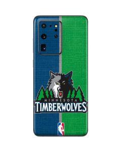 Minnesota Timberwolves Canvas Galaxy S20 Ultra 5G Skin