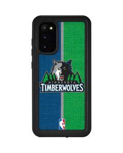 Minnesota Timberwolves Canvas Galaxy S20 Waterproof Case