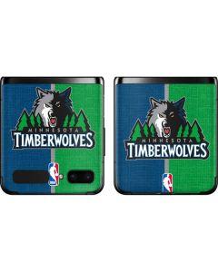 Minnesota Timberwolves Canvas Galaxy Z Flip Skin