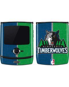 Minnesota Timberwolves Canvas Motorola RAZR Skin
