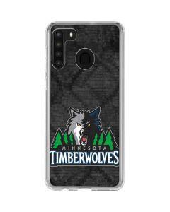 Minnesota Timberwolves Dark Rust Galaxy A21 Clear Case